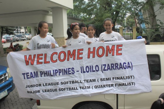 CHAMPIONs still. The two Iloilo teams that represented the Philippines to the 2013 Little League Softball World Series and the 2013 Junior Softball World Series in the US are back in Iloilo.  Majority of the players are from Zarraga, Iloilo. (Tara Yap)